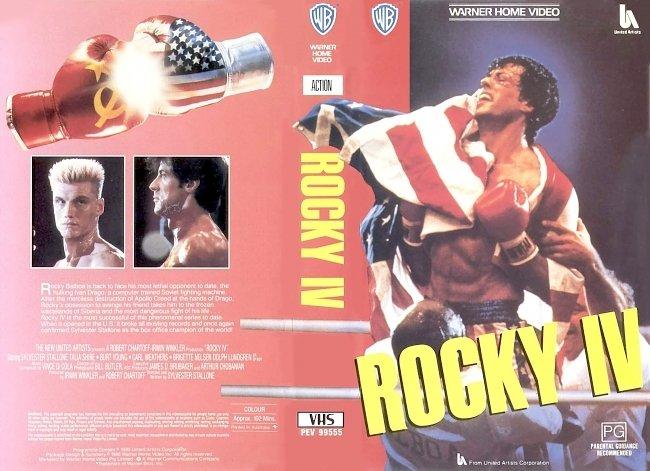 dvd cover Rocky IV 1985 WS R1 Original V.H.S Dvd Cover
