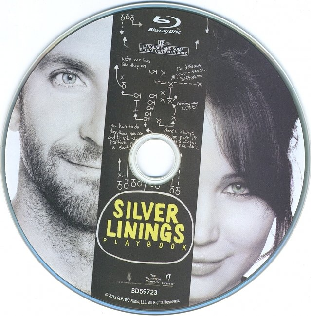 dvd cover Silver Linings Playbook 2012 R1 Disc Dvd Cover