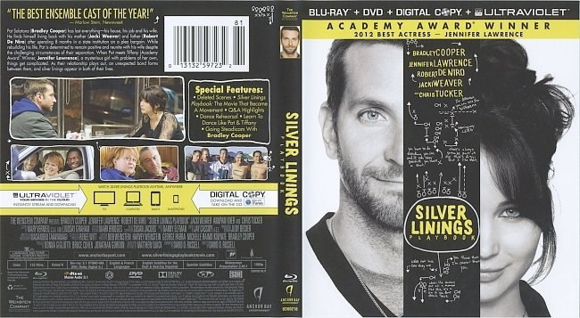 dvd cover Silver Linings Playbook 2012 Dvd Cover