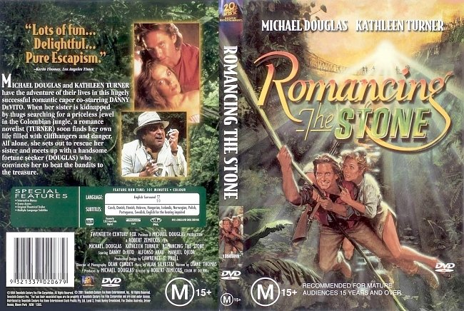 dvd cover Romancing The Stone 1984 Dvd Cover