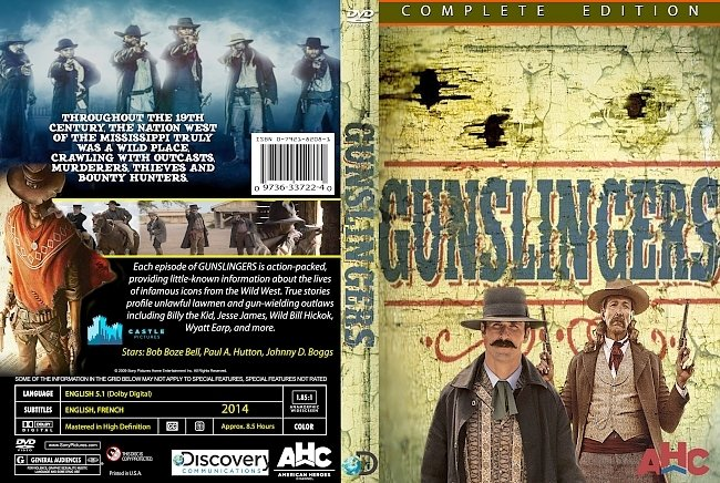 dvd cover Gunslingers 2014 Dvd Cover