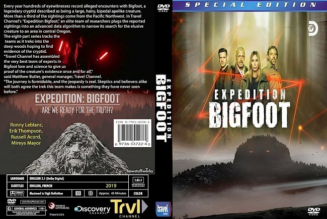 dvd cover Expedition.Bigfoot 2019 Dvd Cover