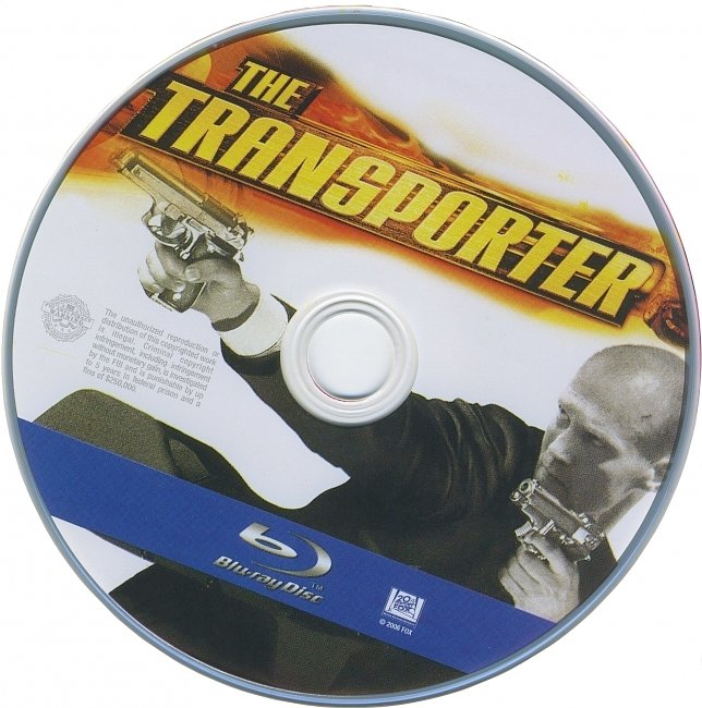 dvd cover The Transporter 2002 R1 Disc Dvd Cover
