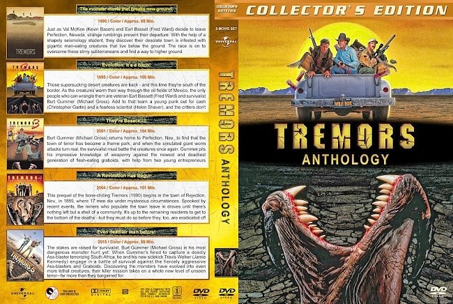dvd cover Tremors Collection 6 DVD 990/2018 R1 Dvd Cover