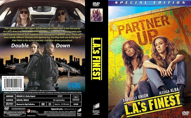 dvd cover L.A.'s Finest 2020 Dvd Cover