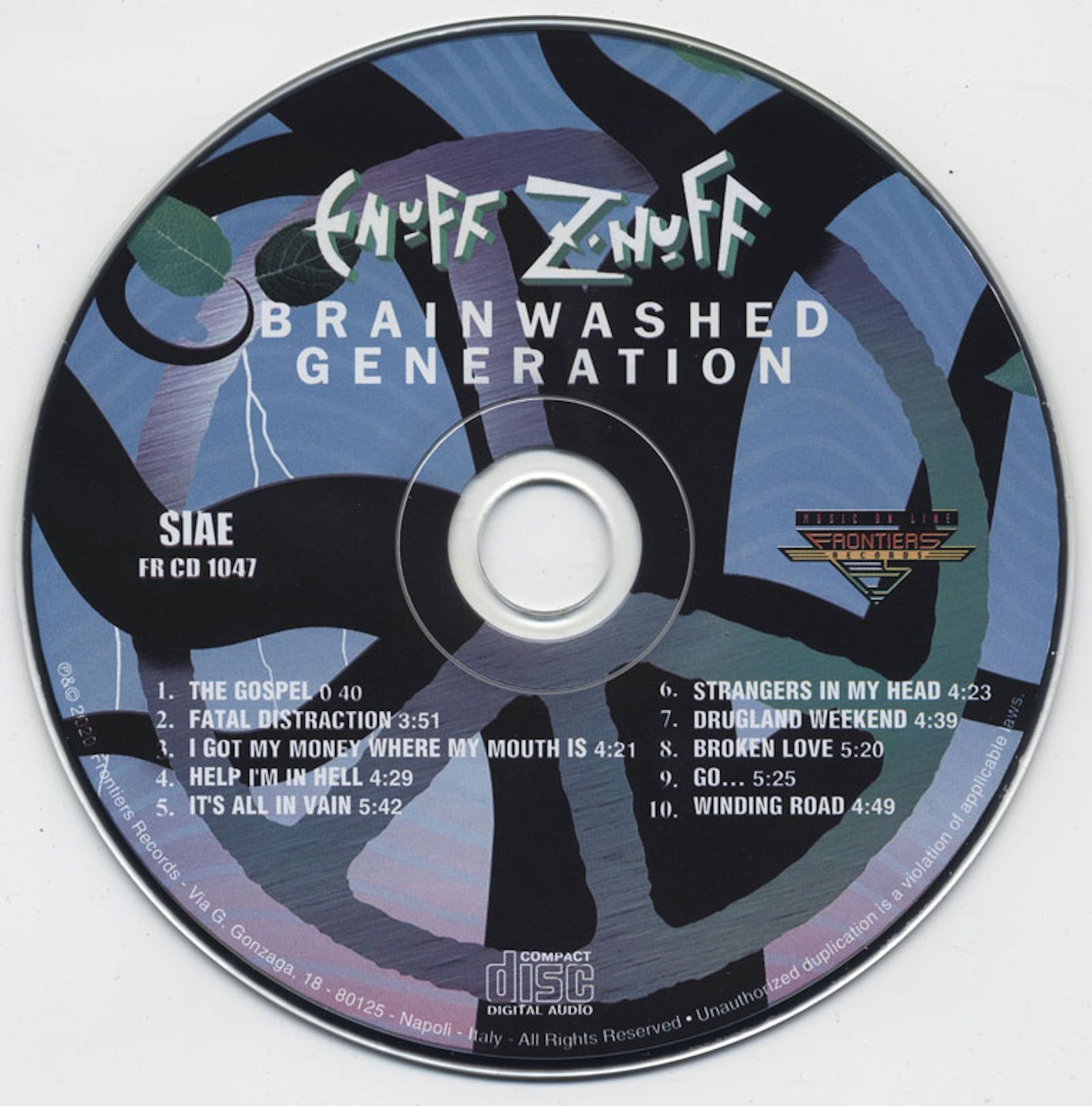 cd cover Enuff Z'nuff - Brainwashed Generation 2020 Cd Cover
