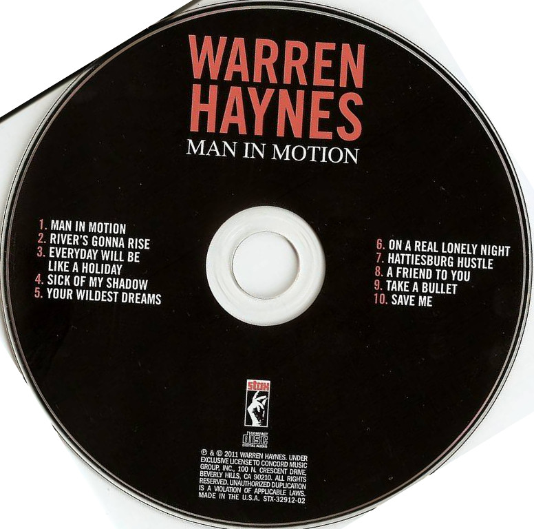 cd cover Warren Haynes - Man In Motion 2011 Cd Cover
