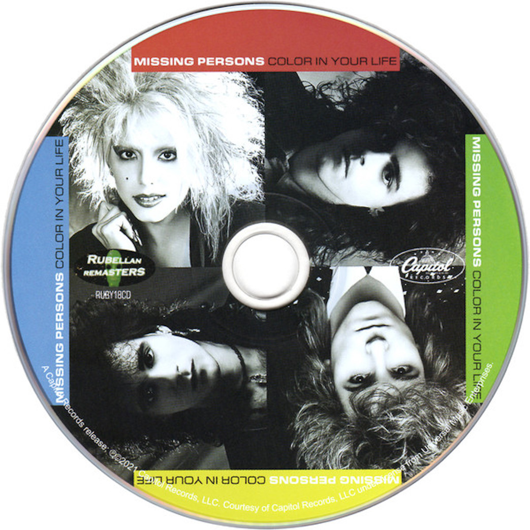cd cover Missing Persons – Color In Your Life 2021 Cd Cover