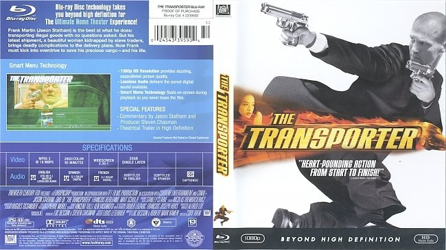 dvd cover The Transporter 2002 Dvd Cover