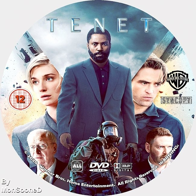 dvd cover Tenet 2020 Dvd Disc Dvd Cover