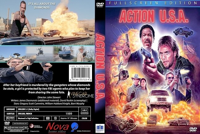 dvd cover Action U.S.A. 1989 Dvd Cover