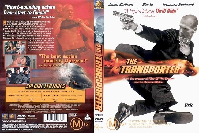 dvd cover The Transporter 2002 Dvd Cover