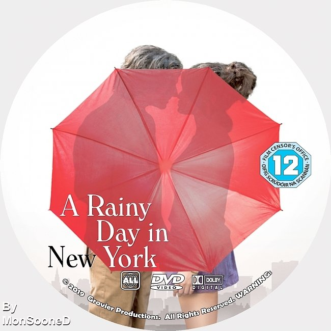 dvd cover A Rainly Day In New York 2019 Dvd Disc Dvd Cover