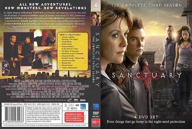 dvd cover Sanctuary - Season 3 2010 Dvd Cover