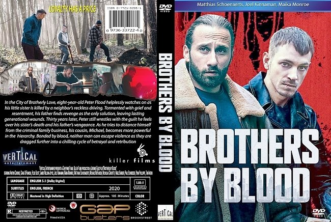 dvd cover Brothers By Blood 2020 Dvd Cover