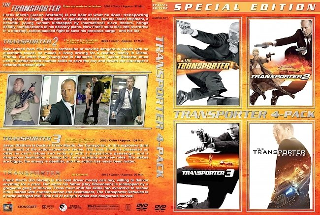 dvd cover The Transporter Collection 2015 Dvd Cover