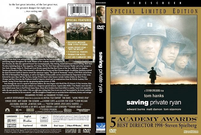 dvd cover Saving Private Ryan - Limited Edition 1998 Dvd Cover