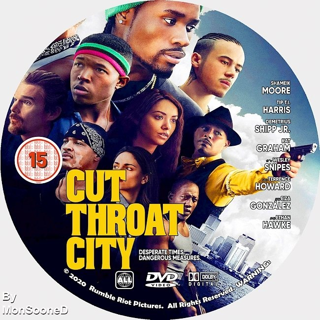 dvd cover Cut Throat City 2020 Dvd Disc Dvd Cover