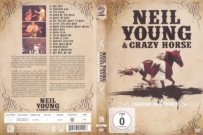 dvd cover Neil Young & Crazy Horse - Canadian Horsepower 2011 Dvd Cover