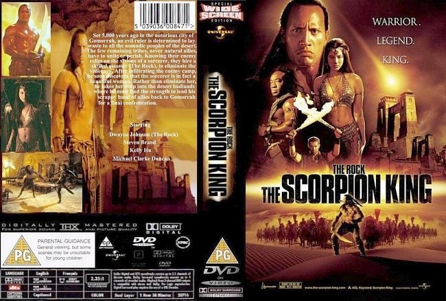 dvd cover Scorpion King 2002 Dvd Cover