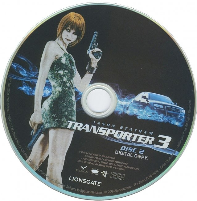 dvd cover Transporter 3 2008 R1 Disc Dvd Cover