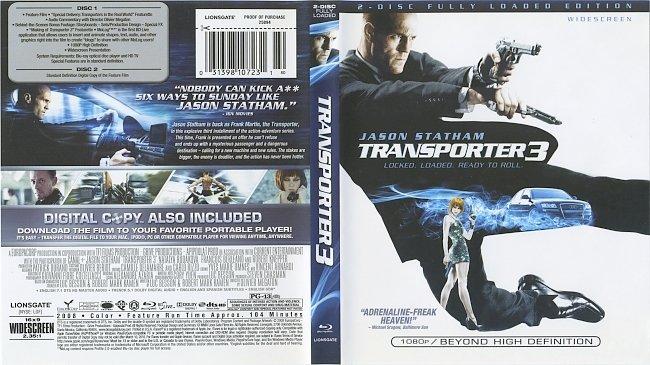 dvd cover Transporter 3 2008 Dvd Cover