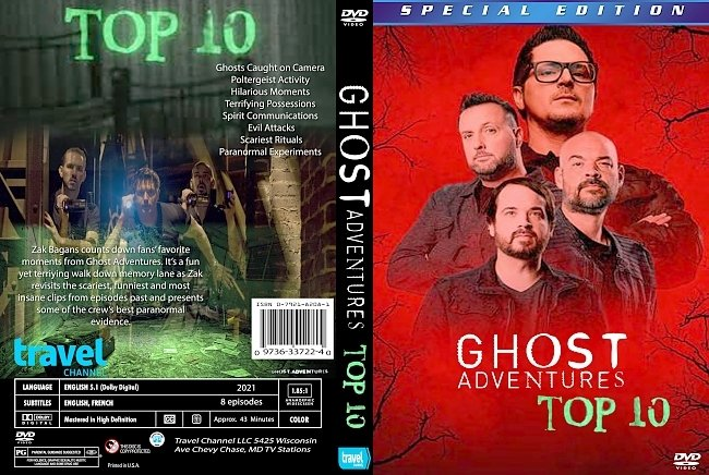 dvd cover Ghost Adventures Top 10 2021 Dvd Cover