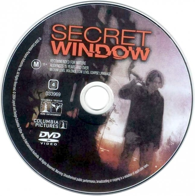 dvd cover Secret Window 2004 Disc Label Dvd Cover