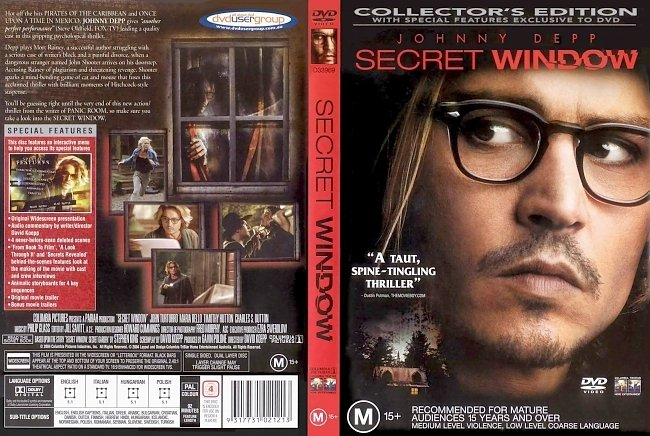 dvd cover Secret Window - Collectors Edition 2004 Dvd Cover
