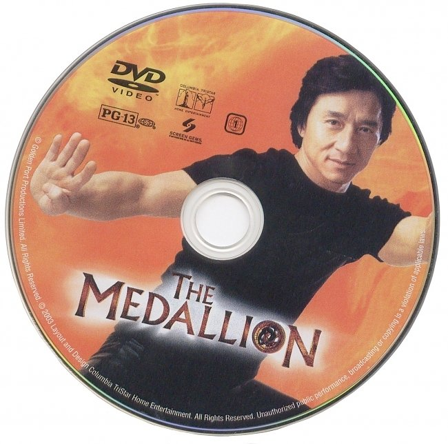 dvd cover The Medallion 2003 R1 Disc Dvd Cover