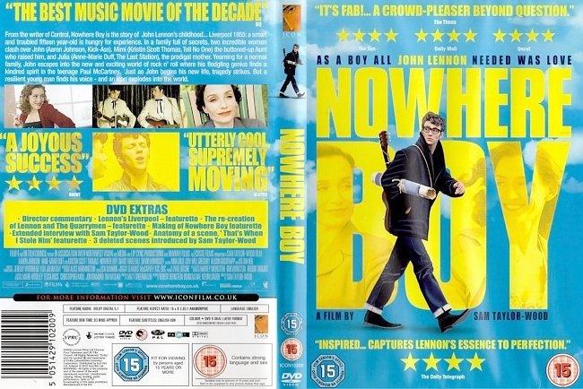 dvd cover Nowhere Boy 2010 Dvd Cover