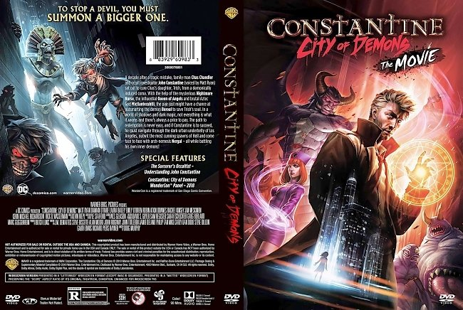 dvd cover Constantine City Of Demons 2018 Dvd Cover