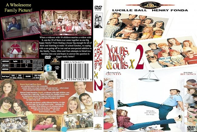 dvd cover Yours Mine And Ours X2 Double Feature 2005 Dvd Cover