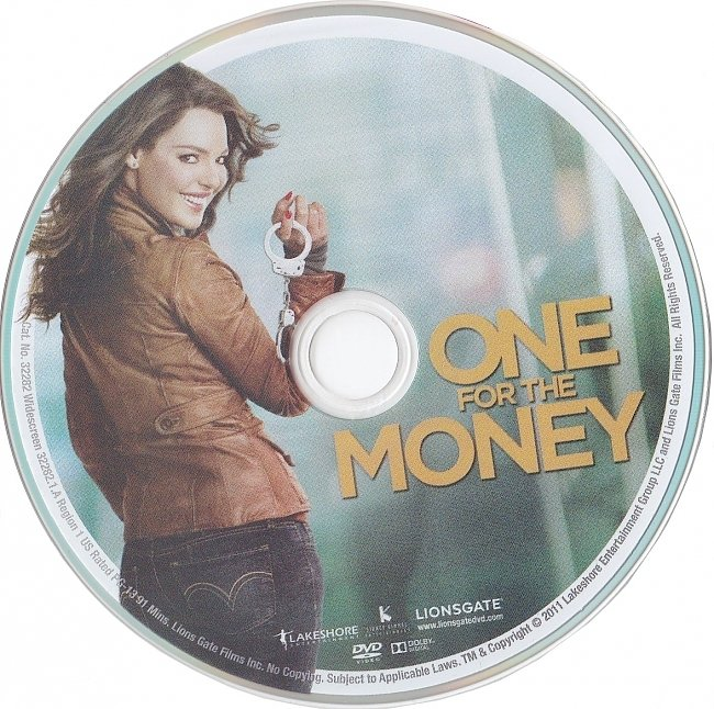 dvd cover One For The Money 2011 R1 Disc Dvd Cover