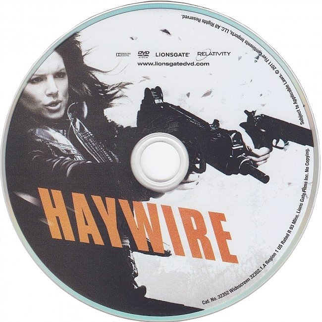 dvd cover Haywire 2011 R1 Disc Dvd Cover