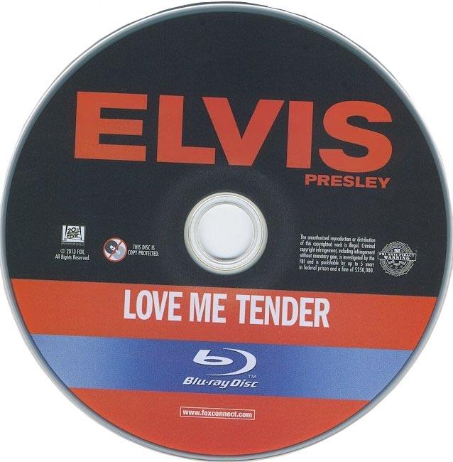 dvd cover Love Me Tender 1956 R1 Disc Dvd Cover