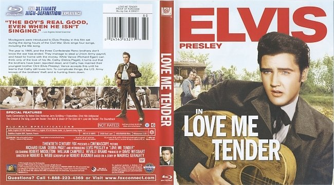 dvd cover Love Me Tender 1956 Dvd Cover