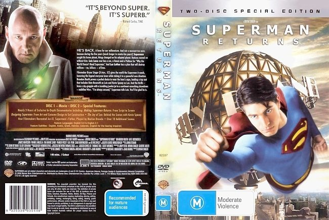 dvd cover Superman Returns - Special Edition 2006 Dvd Cover