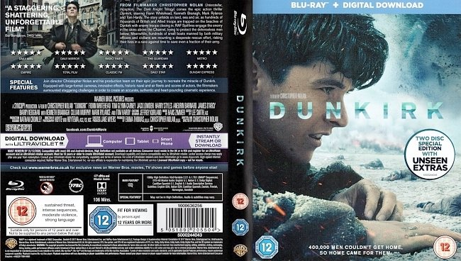 dvd cover Dunkirk 2017 R0 Dvd Cover