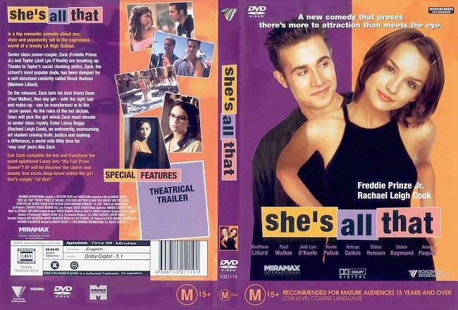 dvd cover Shes All That 1999 Dvd Cover