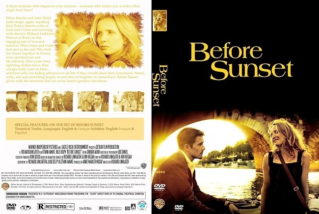 dvd cover Before Sunset 2004 Dvd Cover