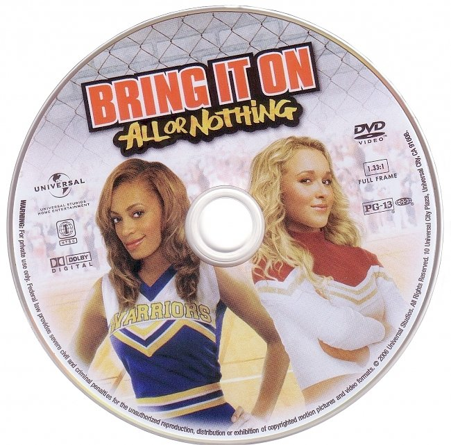 dvd cover Bring It On All Or Nothing 2006 R1 Disc Dvd Cover
