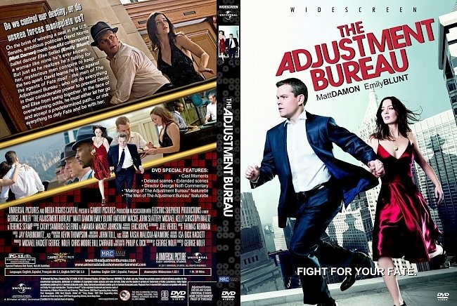 dvd cover The Adjustment Bureau 2011 Dvd Cover
