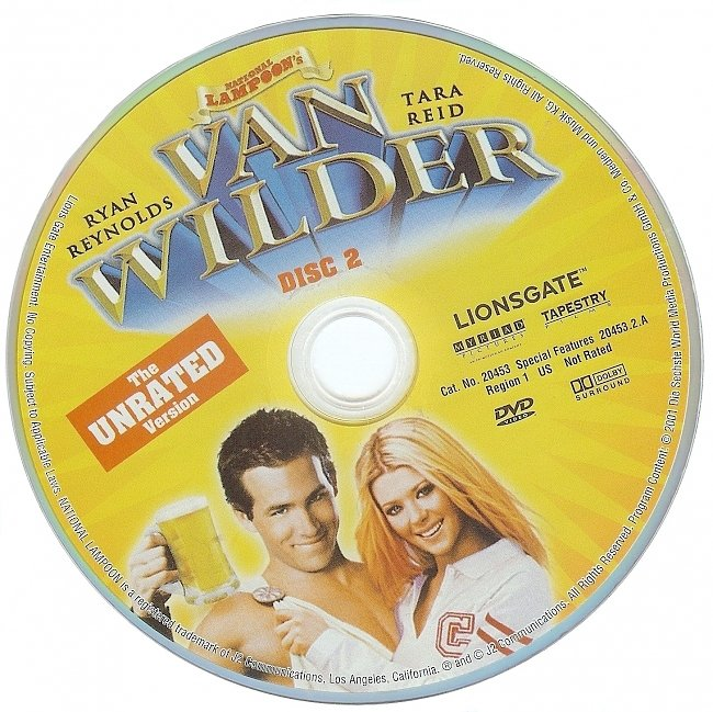 dvd cover National Lampoons Van Wilder - Unrated 2002 R1 Disc 2 Dvd Cover