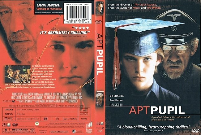 dvd cover Apt Pupil 1998 Dvd Cover