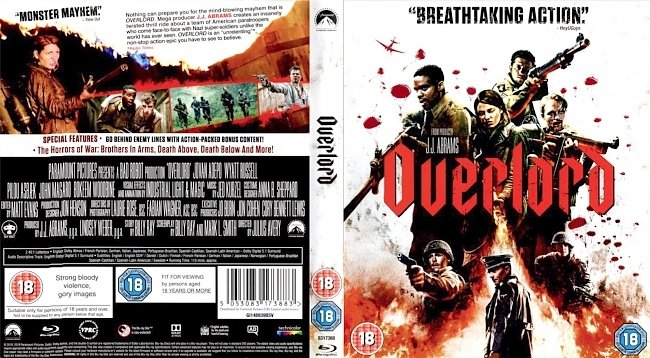 dvd cover Overlord 2018 Dvd Cover