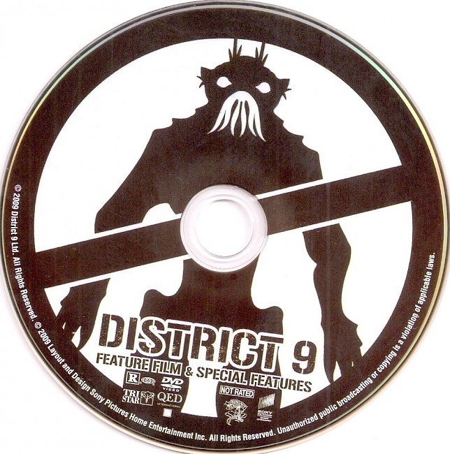 dvd cover District 9 2009 R1 Disc Dvd Cover