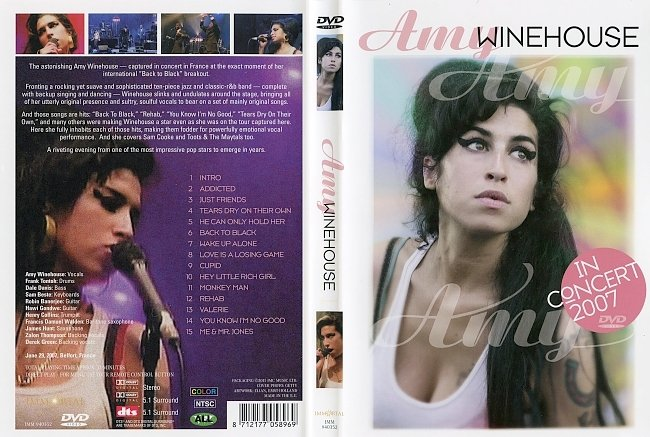 dvd cover Amy Winehouse - In Concert 2007 Dvd Cover