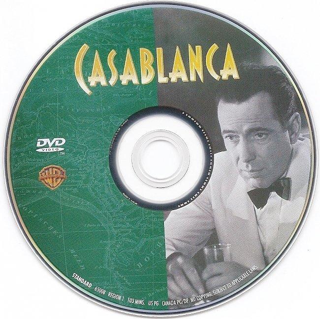 dvd cover Casablanca 1942 R1 Disc Dvd Cover