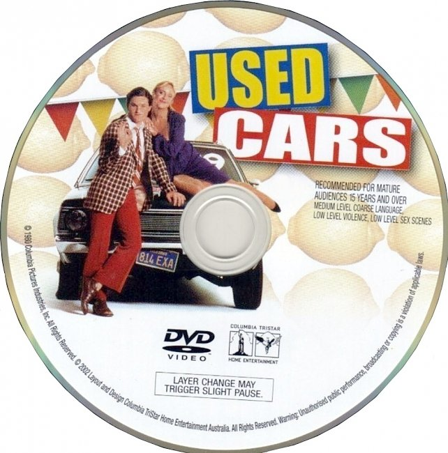 dvd cover Used Cars 1980 R1 Disc Dvd Cover